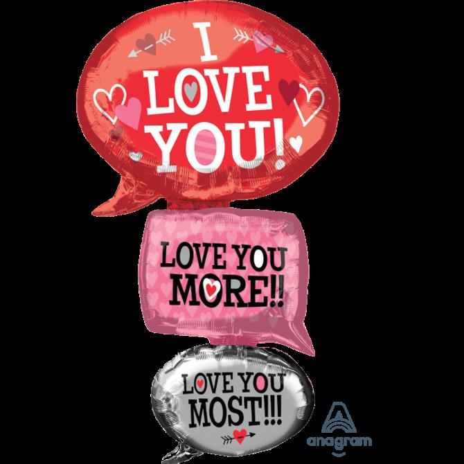 """53"""" Love Bubbles Giant Foil Balloon"""