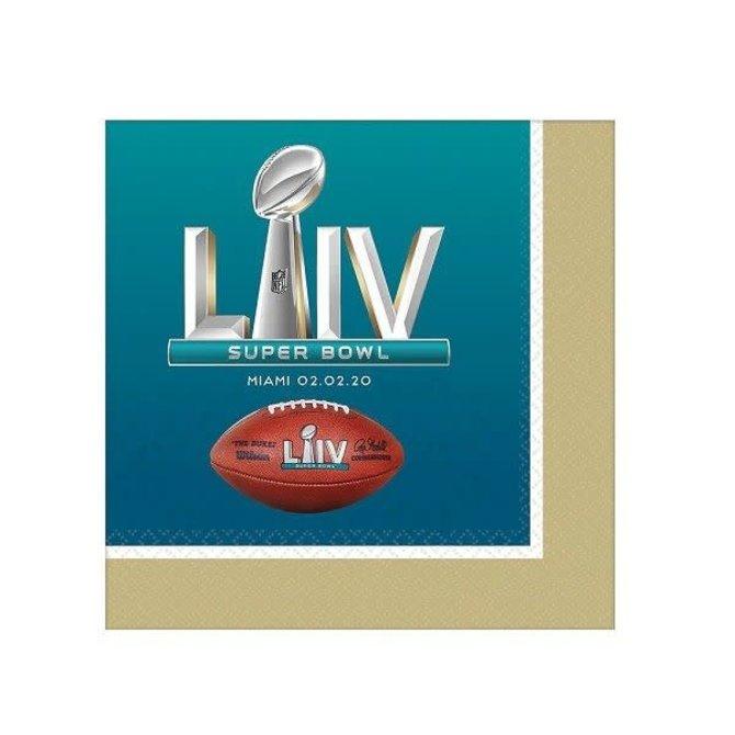 Super Bowl LIV Beverage Napkins, 16ct