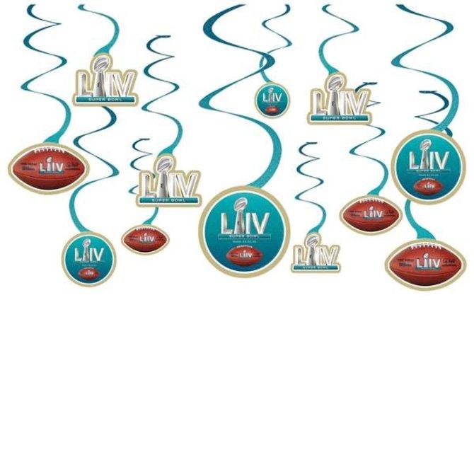 Super Bowl LIV Swirl Decorations 12 ct.