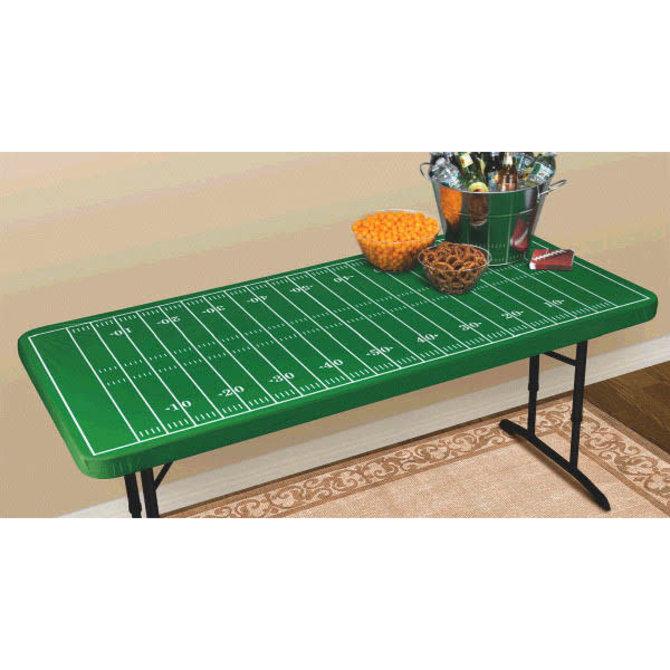 Football Field Table Cover w/Elastic Edge
