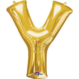 "34"" Letter Y Shape Foil Balloon- Gold"