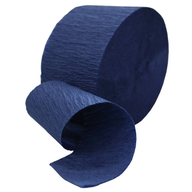 Solid Roll Crepe Streamer - Navy, 81'