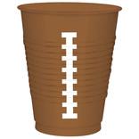 Football Plastic Cups, 16 oz, 25ct