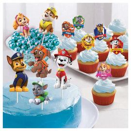 Paw Patrol™ Adventures Paper Toppers Dessert Decorating Kit - 12ct