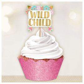 Boho Birthday Girl Cupcake Kit