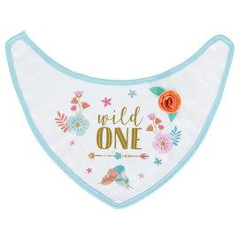 Boho Birthday Girl Fabric Baby Bib