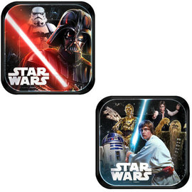 "Star Wars™ Classic Square Plates, 7"" -8ct"