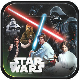 "Star Wars™ Classic Square Plates, 9"" -8ct"