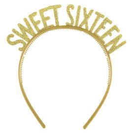 Blush Sixteen Glitter Plastic Headbands- 6ct