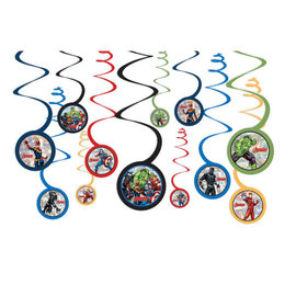 Marvel Avengers Powers Unite™ Spiral Decorations -12ct