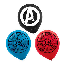"Marvel Avengers Powers Unite™ Printed 12"" Latex Balloons- 6ct"