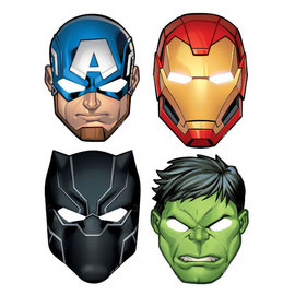 Marvel Avengers Powers Unite™ Paper Masks -8ct