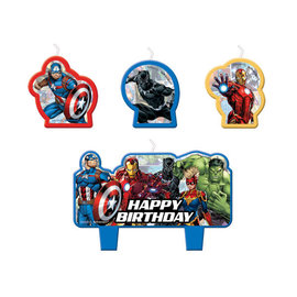 Marvel Avengers Powers Unite™ Birthday Candle Set -4ct