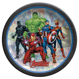 "Marvel Avengers Powers Unite™ 7"" Round Plates -8ct"