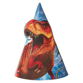 Jurassic World™ Die Cut Paper Cone Hat -8ct