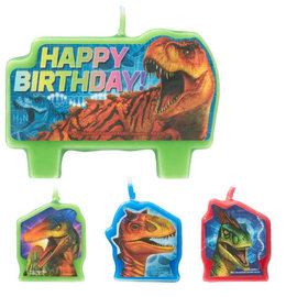 Jurassic World™ Birthday Candle Set -4ct