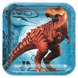 "Jurassic World™ Square Plates, 9"" -8ct"