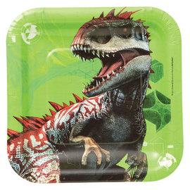 "Jurassic World™ Square Plates, 7"" -8ct"