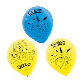 "Pokemon™ 12"" Latex Balloons -6ct"