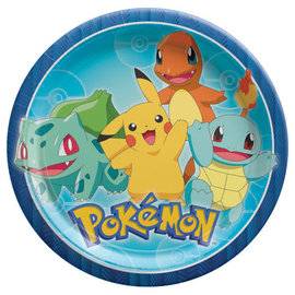 "Pokemon™ 9"" Round Plates -8ct"