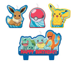 Pokemon™ Birthday Candle Set -4ct
