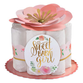 Floral Baby Diaper Centerpiece Decorating Kit, 6 ct