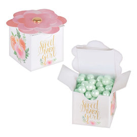 Floral Baby Favor Boxes, 8 ct