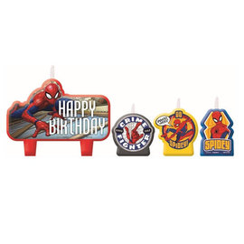 Spider-Man™ Webbed Wonder Birthday Candle Set -4ct