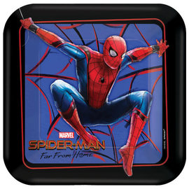"Spider-Man: Far From Home Square Plates, 7"" -8ct"