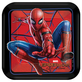 "Spider-Man: Far From Home Square Plates, 9"" -8ct"