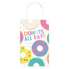 Donut Party Printed Paper Kraft Bag -8ct