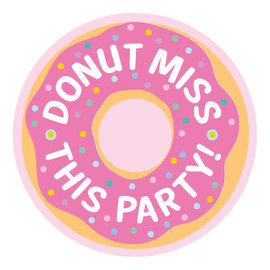 Donut Party Postcard Invitations -8ct