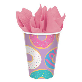 Donut Party Cups, 9 oz. -8ct