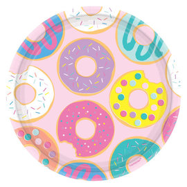 "Donut Party Round Plates, 9"" -8ct"