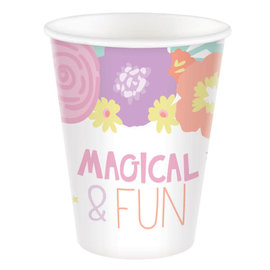 Unicorn Party Cups, 9 oz. -8ct