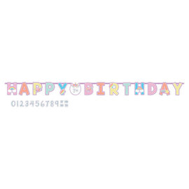 Unicorn Party Jumbo Add-An-Age Letter Banner