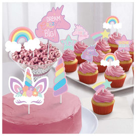 Unicorn Party Paper Topper Kit -12ct