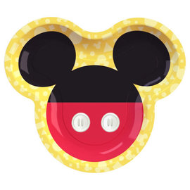 "Mickey Mouse Forever 9"" Shaped Plate -8ct"