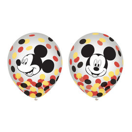 "Mickey Mouse Forever Latex Confetti 12"" Balloons -6ct"