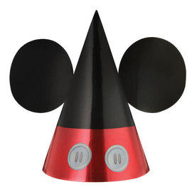 Mickey Mouse Forever Foil Cone Hat -8ct