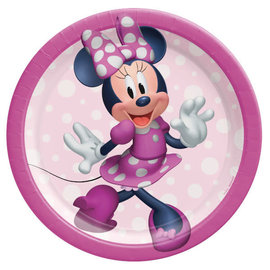 "Minnie Mouse Forever 7"" Round Plates -8ct"