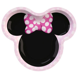"Minnie Mouse Forever 9"" Shaped Plates -8ct"