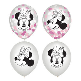 "Minnie Mouse Forever Latex Confetti 12"" Balloon -6ct"