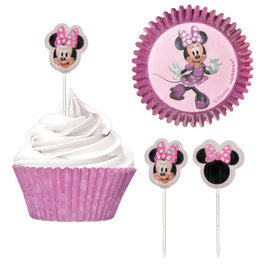 Minnie Mouse Forever Cupcake Cases and Picks Combo Pack -48ct
