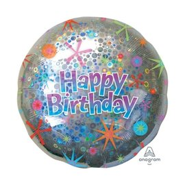 "Holographic Circles Birthday, 32"""