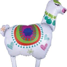 "Llama Foil Balloon, 41"""