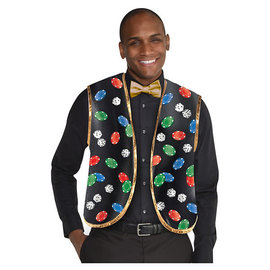 Casino Dealers Vest and Bow Tie