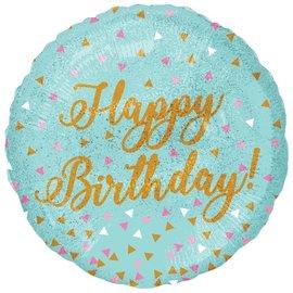 "Woo Hoo Birthday Holographic Foil Balloon, 18"""