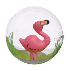 "Flamingo Inflatable Beach Ball, 12"""