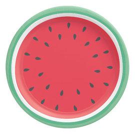 """Tutti Frutti Round Plates, 10 1/2""""- 8 ct"""